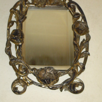Victorian Solid Silver  Vanity Mirror