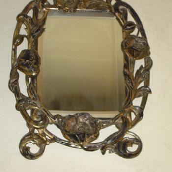 Victorian Solid Silver  Vanity Mirror