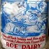 "Tall Round Pyro Quart Roe Dairy Milk Bottle ""Hey Diddle Diddle"" Nursery Ryhme"