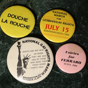 1984 Gay Rights Pins - Medals Pins and Badges