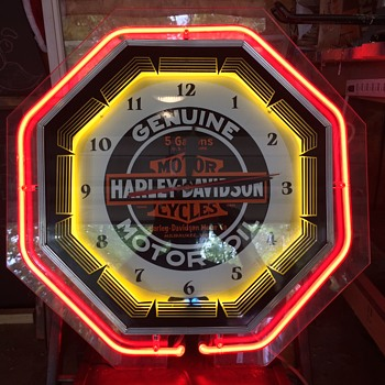 Harley Davidson Neon Clock - Clocks