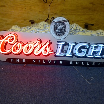 Neon Coors Light sign  - Signs