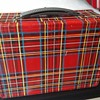 Vintage 1960s CHENEY RED ENGLISH PLAID METAL LUNCHBOX