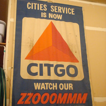 Cities Service Gas Station Sign