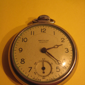 VINTAGE WESTCLOX SCOTTY POCKET WATCH - Pocket Watches