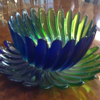 Bowl & plate set - Art Glass