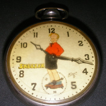 1936 Skeezix Pocket Watch by Ingraham - Pocket Watches