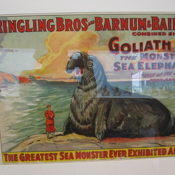 Shelburne Museum Circus posters #2 - Goliath The Monster Sea Elephant - Posters and Prints