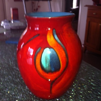 Poole Volcano large vase circa 2004 - bought from Poole factory in Dorset
