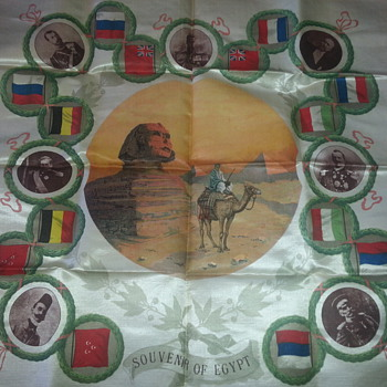 SILK SOUVENIR FROM EGYPT.WORLD WAR 1 MEMORABILIA