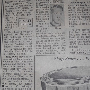 Gordie Howe Article - Hockey