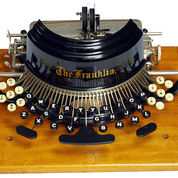 Franklin typewriter - 1892 - Office