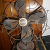 Antique ? Westinghouse Oscillating fan (works) w wood ? blades