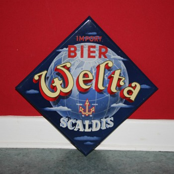 Welta Scaldis beer sign - Advertising