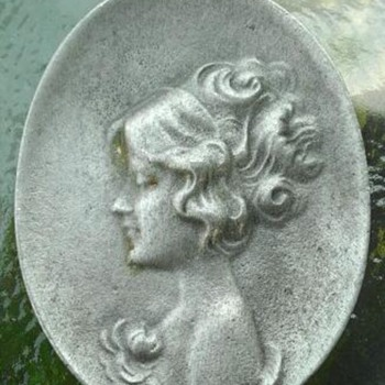 pewter cameo - Costume Jewelry