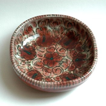 french art deco pottery ashtray by EDOUAD CAZAUX - Tobacciana