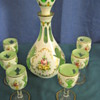 Bohemian Czeck Cased Glass 6 Glasses and Decanter