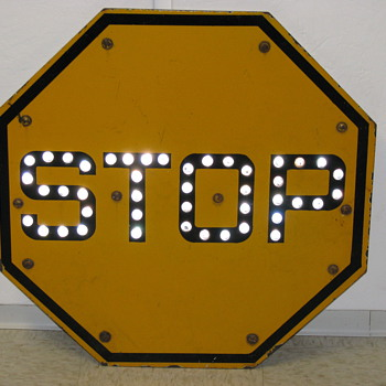 My Holy Grail - The Griswold Stop Sign with Reflective Marbles - Signs