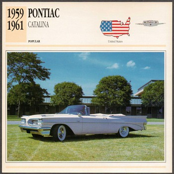 Vintage Car Card - Pontiac Catalina