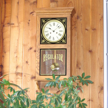 Regulator clock dad made - Clocks
