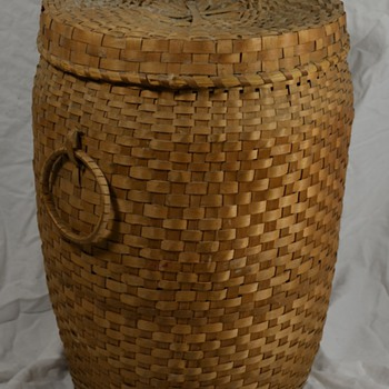 Large Native Storage Basket Unknown Tribe - Native American