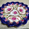 Beautiful Hand Painted Floral Asian Plate