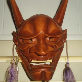 NOH Mask  Hannya  Wood carved, Demon Women Souls due to obsession and jealousy!!! - Asian