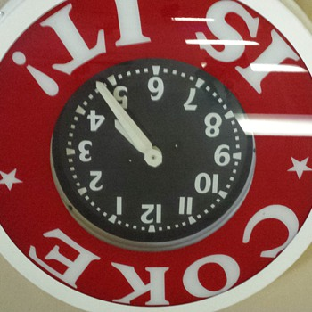 Coke Is It!  Coca-Cola Wall Clock - Coca-Cola