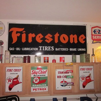 Firestone Porcelain Sign