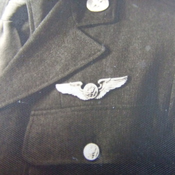 WW2 Army Air Corps Crew Member Wing photograph - Military and Wartime