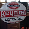 White Eagle Keynoil Motor Oil Double Sided Porcelain Sign