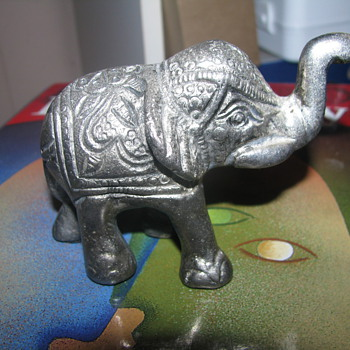 Metal Indian elephant - Animals