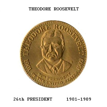 Shell Oil Co. - Theodore Roosevelt Medal - Medals Pins and Badges