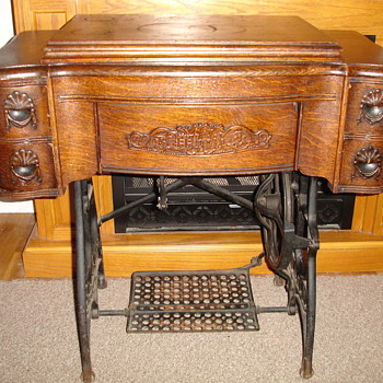 White Treadle Machine - Sewing