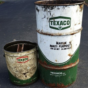 74' Texaco Grease Drum / Bucket - Petroliana