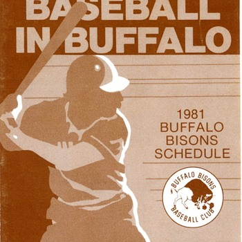 Buffalo Bisons 1981 Pocket Schedule - Baseball