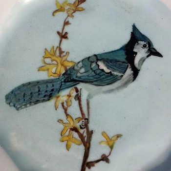 Hand Painted Folk Art Plates
