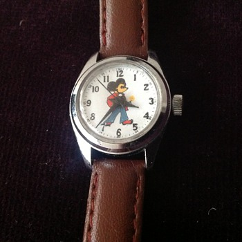 "Vintage 1970's Mickey Mouse ""Adorable Sales"" wristwatch."