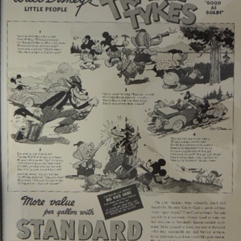DISNEY STANDARD OIL ADDS - Advertising