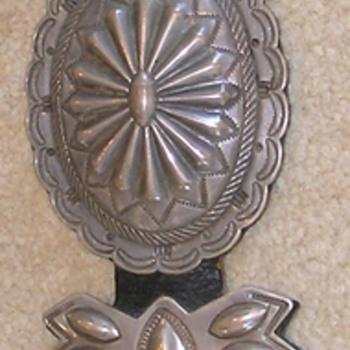 "Navajo Silver ""concha"" Belt circa 1935"
