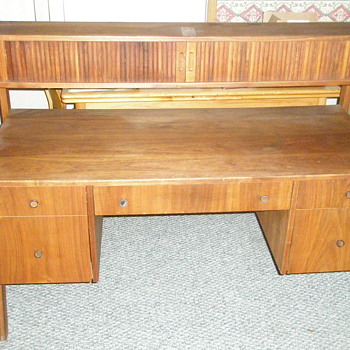 Walnut Desk Danish Modern ?