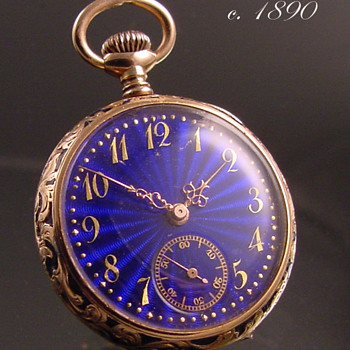 Swiss Made Ladies Pendant Watch c.1890 - Pocket Watches