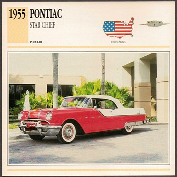 Vintage Car Card - Pontiac Star Chief - Classic Cars