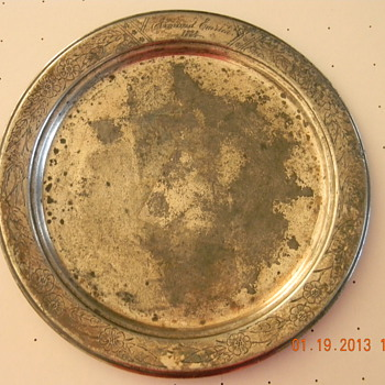 1884 Reed and Barton Plate  - Sterling Silver