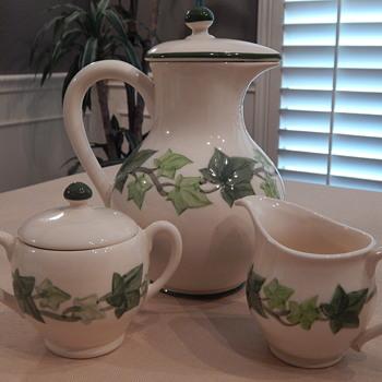 Franciscan Ivy Coffee Pot, Sugar & Creamer