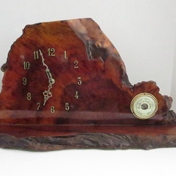 Redwood Burl Slab Clock - Clocks