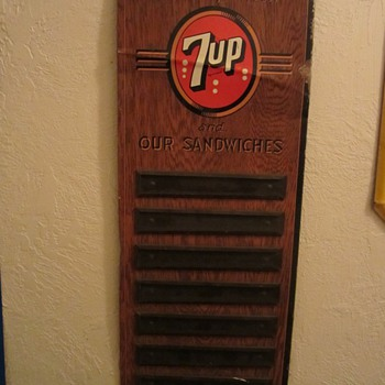 old 7-up menu sign - Signs