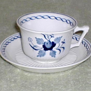 "Wm. Adams ""Baltic"" Cup & Saucer Set - China and Dinnerware"