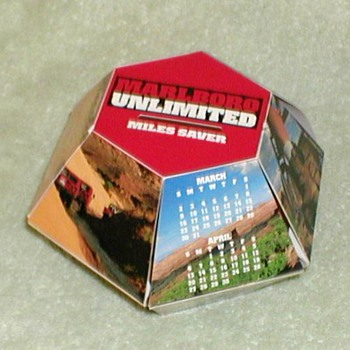 1996 - Marlboro Gear Miles Saver Octagonal Box - Advertising