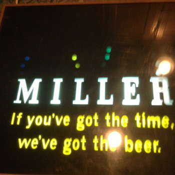 Rotating sign - Miller Beer - early 80s?
